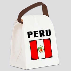 Peru Flag Canvas Lunch Bag