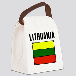 Lithuania Flag Canvas Lunch Bag