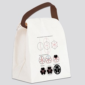 Drawing method of Wood sorrel Canvas Lunch Bag