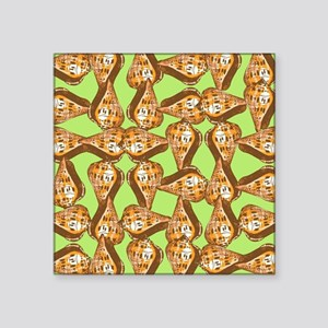 "Seashells pattern Square Sticker 3"" x 3"""