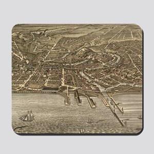 Vintage Pictorial Map of Cleveland (1877 Mousepad