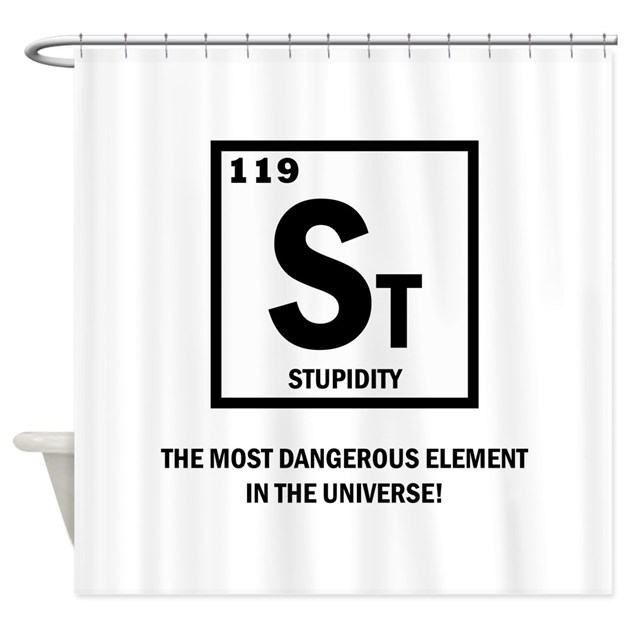 St Element-Stupidity Shower Curtain by hotroddintees