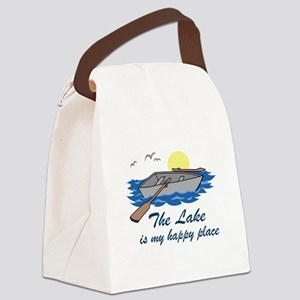Lake Is My Happy Place Canvas Lunch Bag