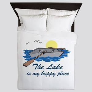 Lake Is My Happy Place Queen Duvet
