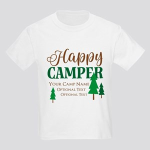 Custom Happy Camper Kids Light T-Shirt