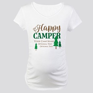 812149eb Happy Camper Personalized Dog98199623 Maternity T-Shirts - CafePress