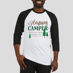 Custom Happy Camper Baseball Tee