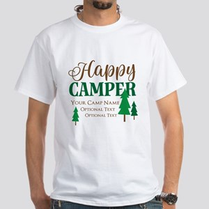 Custom Happy Camper White T-Shirt