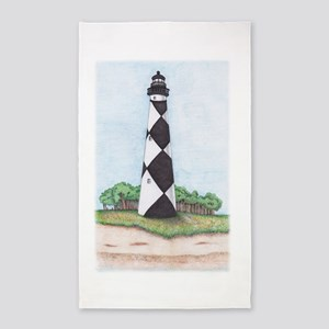 Cape Lookout lighthouse Area Rug