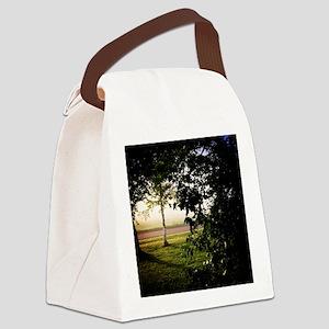 Foggy Sunrise Canvas Lunch Bag