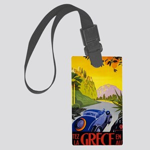 Greece Vintage Travel Poster Res Large Luggage Tag