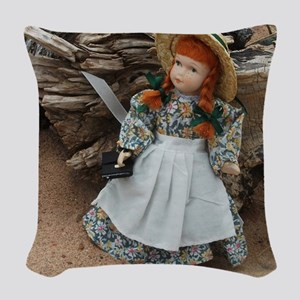 Anne of Green Gables Doll  Woven Throw Pillow