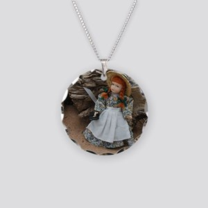 Anne of Green Gables Doll  Necklace Circle Charm
