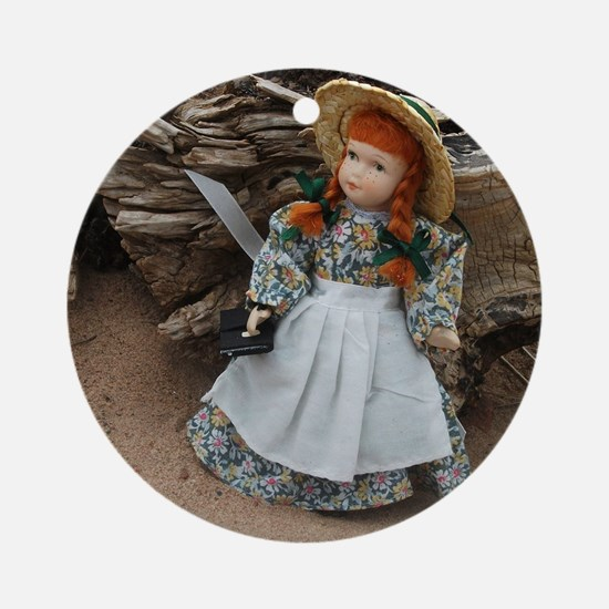 Anne of Green Gables Doll  Round Ornament