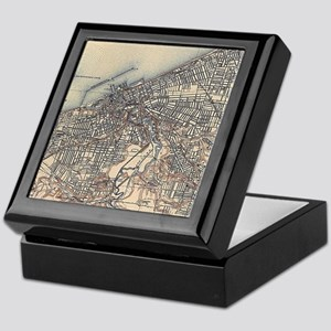 Vintage Map of Cleveland (1904) Keepsake Box
