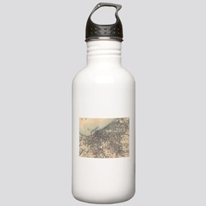 Vintage Map of Clevela Stainless Water Bottle 1.0L