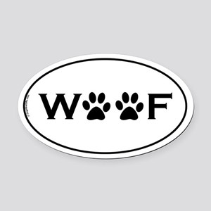 Woof Paws Oval Car Magnet