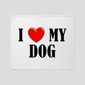 Love My Dog Throw Blanket