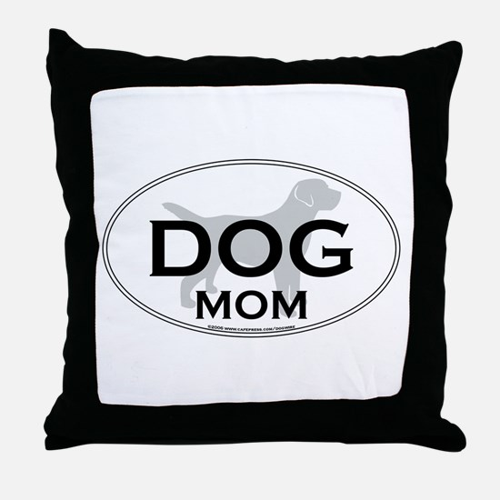 DOGMOM.png Throw Pillow