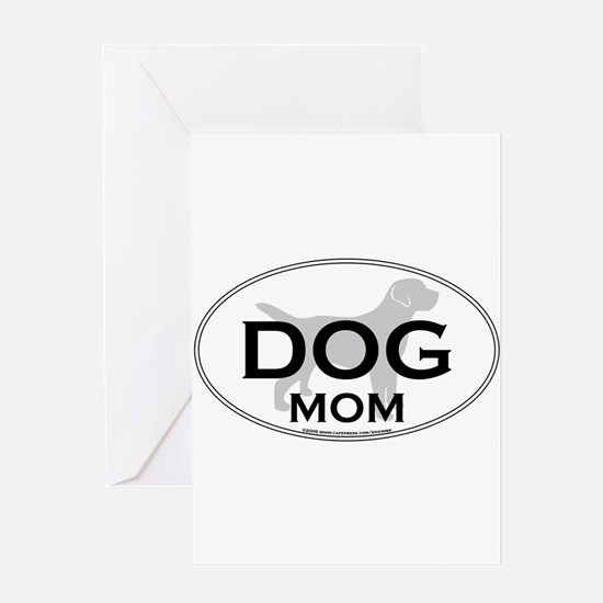 DOGMOM.png Greeting Card