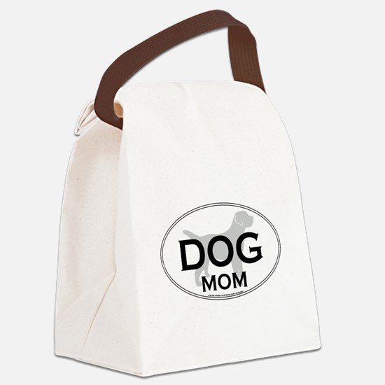 DOGMOM.png Canvas Lunch Bag