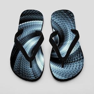Husk Blue Flip Flops