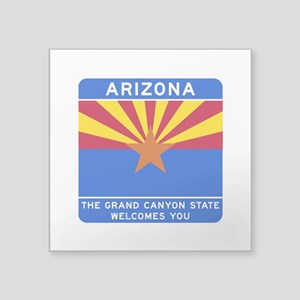 "Welcome to Arizona - USA Square Sticker 3"" x 3"""
