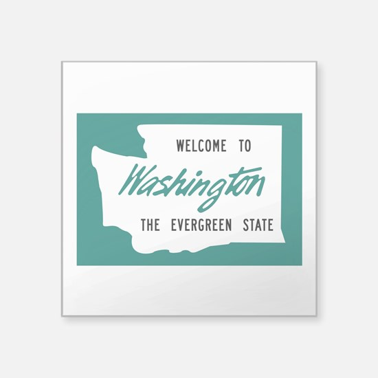 "Unique Tacoma washington Square Sticker 3"" x 3"""