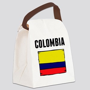 Colombia Flag Canvas Lunch Bag