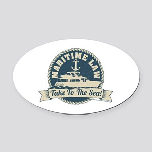 Arrested Development Maritime Law Oval Car Magnet