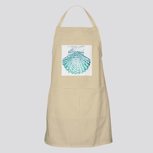 modern sea shells nautical  Apron