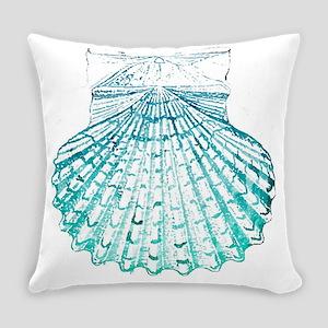 modern sea shells nautical  Everyday Pillow