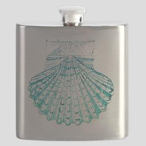 modern sea shells nautical  Flask