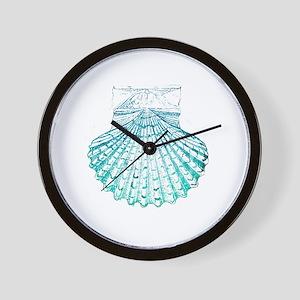 modern sea shells nautical  Wall Clock