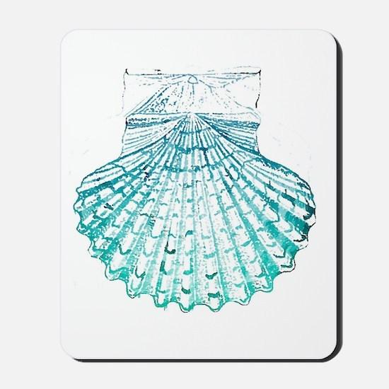 modern sea shells nautical  Mousepad