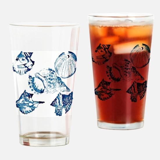 modern sea shells nautical  Drinking Glass