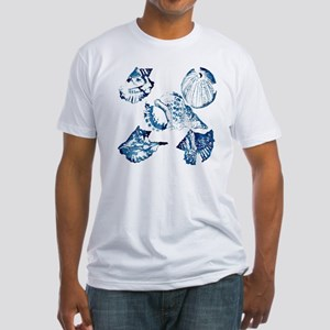 modern sea shells nautical  Fitted T-Shirt