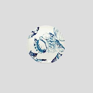 modern sea shells nautical  Mini Button