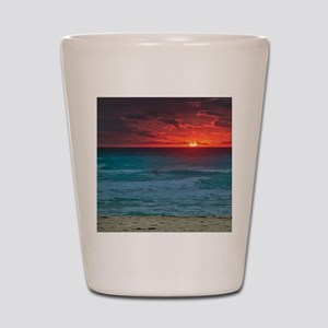 Sunset Beach Shot Glass