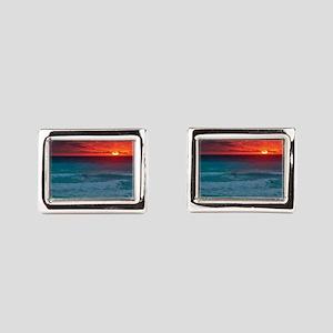Sunset Beach Rectangular Cufflinks