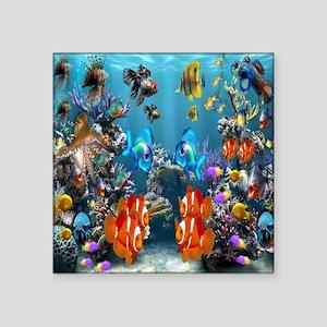 """Under the Sea Square Sticker 3"""" x 3"""""""