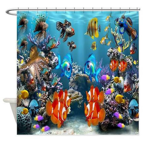 Wonderful Under The Sea Shower Curtain