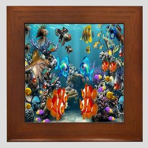 Under the Sea Framed Tile