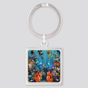 Under the Sea Square Keychain