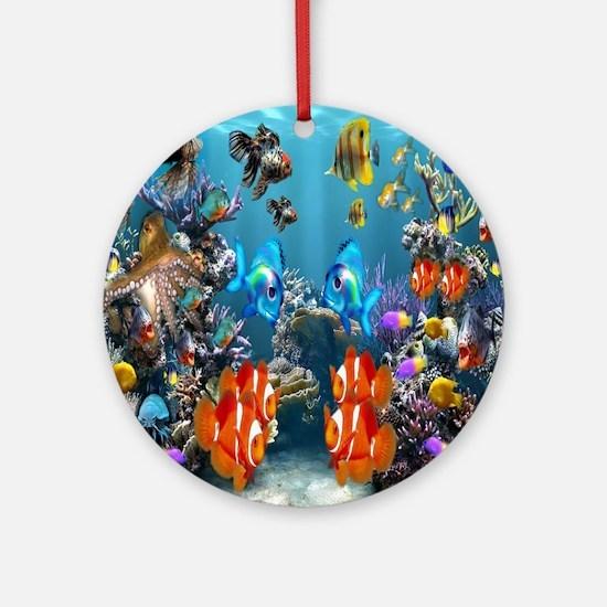 Under the Sea Round Ornament