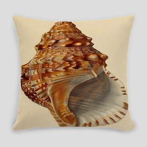 vintage botanical sea shells Everyday Pillow