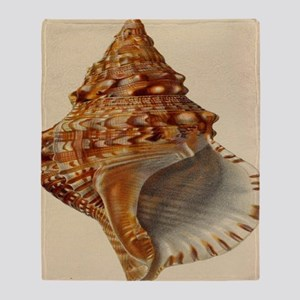 vintage botanical sea shells Throw Blanket