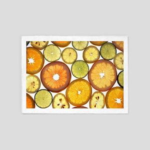 Citrus Fruit Slices 5'x7'Area Rug