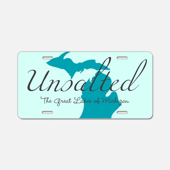 Michigan Unsalted Aluminum License Plate