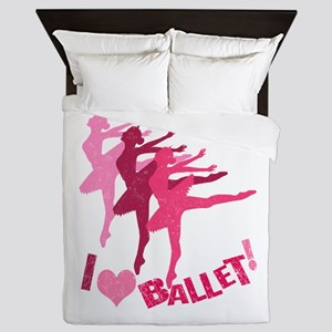 I Love Ballet Queen Duvet